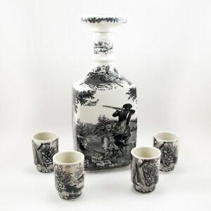 Villeroy & Boch Artemis Vintage Decanter Shot Glass Set Germany