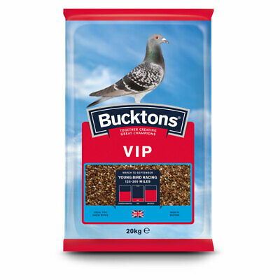 Bucktons VIP Pigeon Feed - Young Bird Racing Seed Mix Ideal for Show Birds 20kg