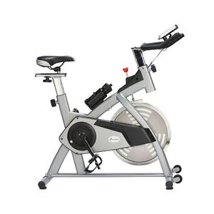 Silver Adjustable Exercise Bike Cycling Trainer Home Gym Fitnes
