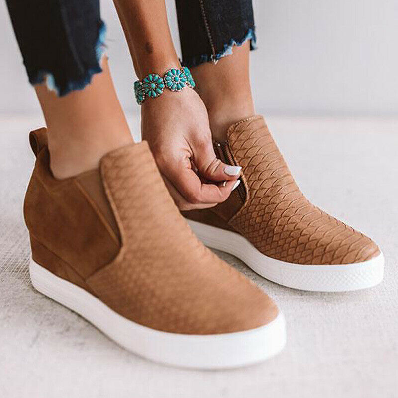 Fashion Heel Loafers Slip On Casual