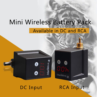 DGT Digital Display Rechargeable Tattoo Machine Battery Pack RCA/DC Power Supply (Digital Tattoo)
