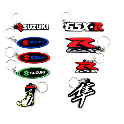 Keyring Motor Bike Rubber Keychain Key Chain Key Ring Gift For Suzuki -