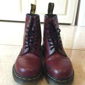 Dr. Martens Burgundy/ Cherry Red Boots for sale
