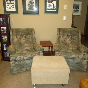 High Back Chairs in Duck Motif