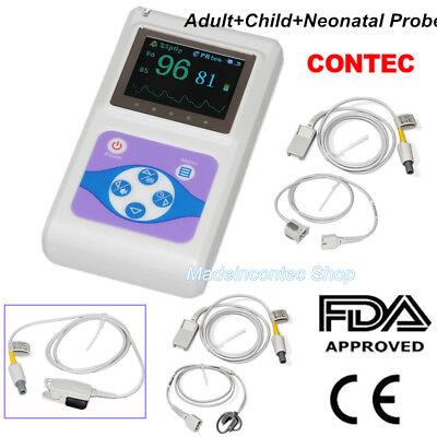 Contec Hand-held Pulse Oximeterblood Oxygen Monitoradultneonatalchild Probe
