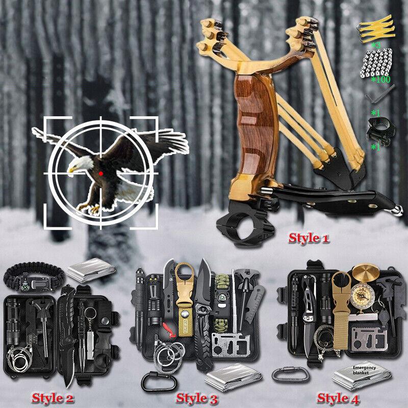 Survival Kit Außen Notfall Set Überleben Outdoor Camping Jagd Tools Abenteuer