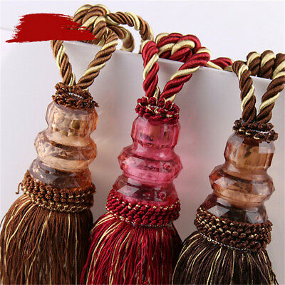 1 Pair Ball Fringe Strap Ball Tassel Hanging Tie Ball Window Curtain Accessories](Ball Fringe Curtains)
