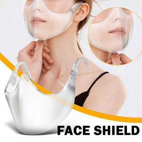 1PC Transparent Durable Face Shield Mask Mouth Breath Clear Face Mask Anti-Fog