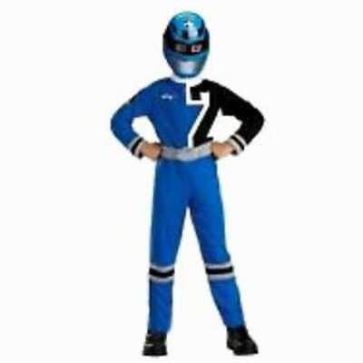 RARE Power Rangers SPD Blue Ranger Costume Child 7-8 - Kids Blue Power Ranger Costume