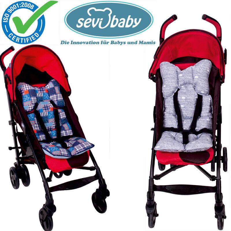 Sevibaby PATCHWORK Einlage Kissen Sitzunterlage für Kinderwagen Autositz 8376