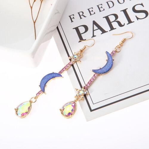 New Fashion Drop Dangle Jewelry Blue Moon&Star Earrings For