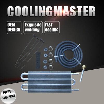 Aluminum Remote Transmission Oil Cooler Manual to Auto Radiator Converter