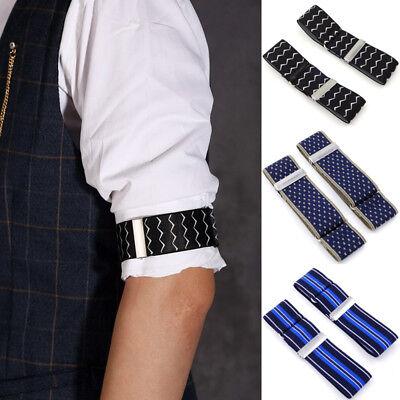 Elastic Adjustable Shirt Sleeve Garter Strap Arm Band Sleeve Cuff Holder - Arm Garter