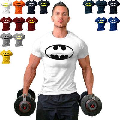 Batman Muscle Shirt (2018 Men Batman Fitness T Shirt Muscle Bodybuilding Stringers Batman)
