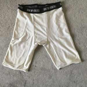 Tuff Athletics White Shorts -Size Adult M