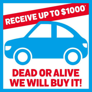 We offer up to $ 1000 *CASH for your old car