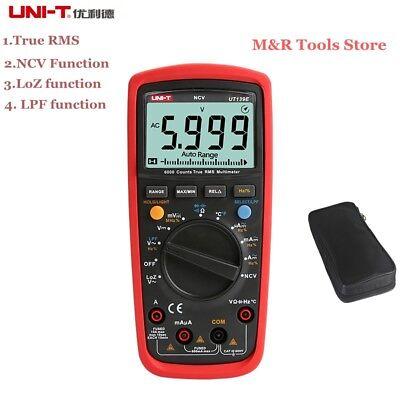 Uni-t Ut139e True Rms Multimeter Automanual 6000 Counts Dmm Lpf Loz Ncv Tester