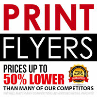 PRINT FLYERS | Spend up to 50% less on your printing!