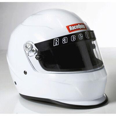 Racequip Helmet 273113; Pro15 Medium Full-Face Gloss White Snell SA-2015