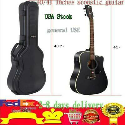 Hardshell Case Fits 40 inch 41 inch Acoustic Guitars with Deluxe interior Box US