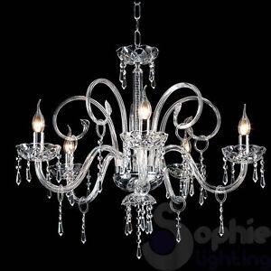 Lampadario classico vetro di murano cristallo acciaio cromo salotto soggiorno  eBay