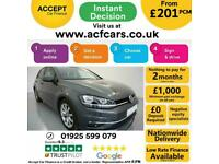 2017 GREY VW GOLF 2.0 GT TDI 150 DIESEL MANUAL 5DR HATCH CAR FINANCE FR £201 PCM