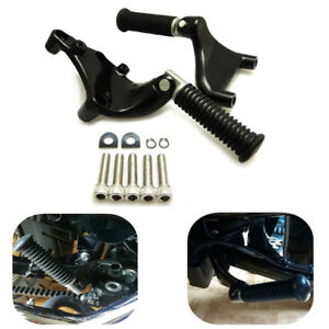 Passenger Foot Pegs Pedal Mount For Harley Sportster 1200 Iron 883 48 72 14-2017
