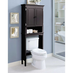 Wakefield Over the toilet storage in espresso - space saver