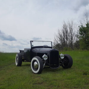 Complete rolling model A hot rod chassis