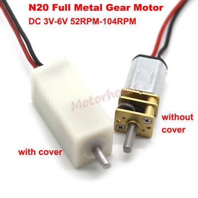 Dc 3v-6v Mini Micro N20 Gear Motor Full Metal Gearbox Large Torque Diy Robot Car