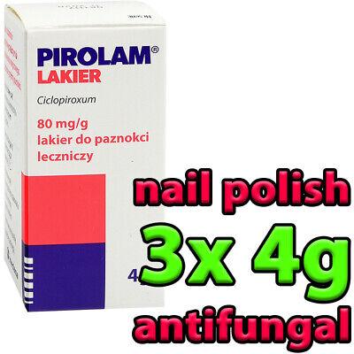 3x PIROLAM 4g - nail polish tinea antifungal manicure heals best