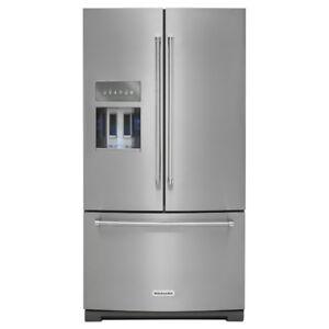 """KitchenAid 36"""" 26.8 Cu. Ft. French Door Refrigerator (KRFF707ESS"""