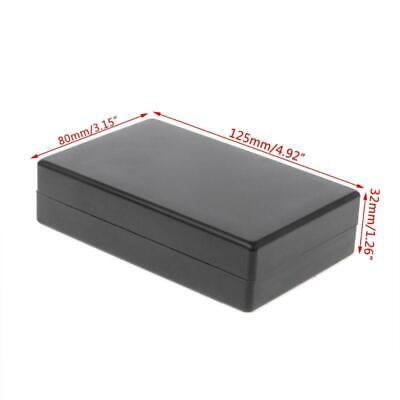Black Waterproof Box Electronic Project Instrument Case Connector 125x80x32mm