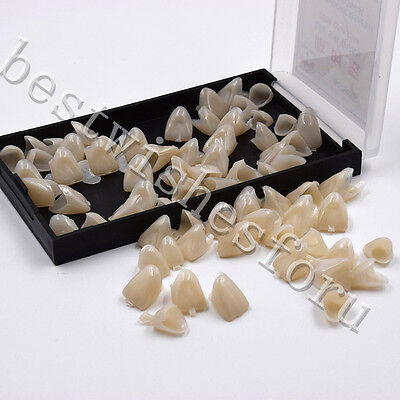 Dental Front Temporary Crown Material Polycarbonate Cap Anterior Teeth 55 Pcbox