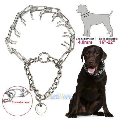 Dog Training Choke Chain Collar Adjustable Metal Steel Prong