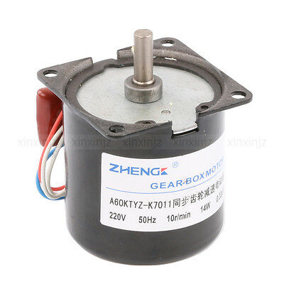 Ac 220v 10rpm Synchronous Gear Electric Motor Speed Reducing Gear-box