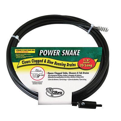 Power Snake 14 In. Snake Drain Auger 15 Ft. L