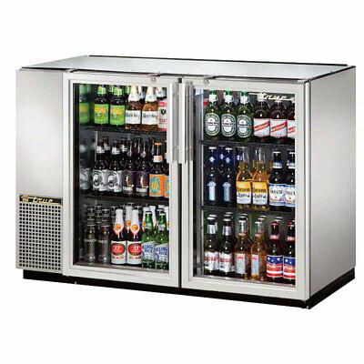 True Tbb-24gal-48g-s-hc-ld 48 Bar Refrigerator - 2 Swinging Glass Doors 115v