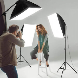 2700w 3-Point Softbox Lighting Kit for Portraits & Video