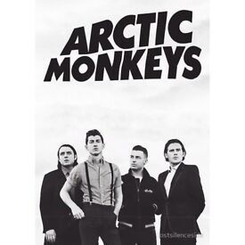 2 X ARTIC MONKEYS SEATED TICKETS O2 MONDAY 10TH SEPTEMBER