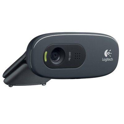 Logitech WebCam 720p HD C270 con Microfono Videochiamata Skype FaceTime USB PC