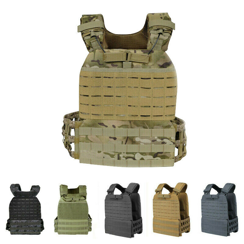 Tactical Cross Fit Weighted Vest  Plate Carrier Molle Endura