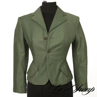 LNWOT Junya Watanabe Comme des Garcons Japan Army Green Cropped Peplum Jacket S