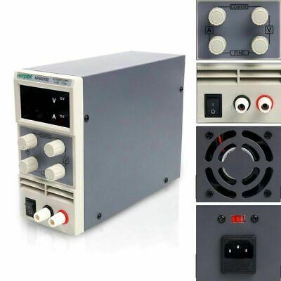 Dc Power Supply 30v 10a Adjustable Dual Digital Variable Precision Lab Grade Us