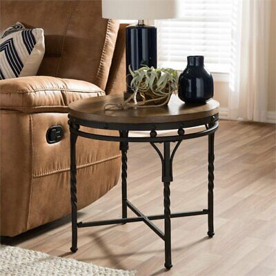 Austin End Table in Antique Bronze Bronze Living Room End Table