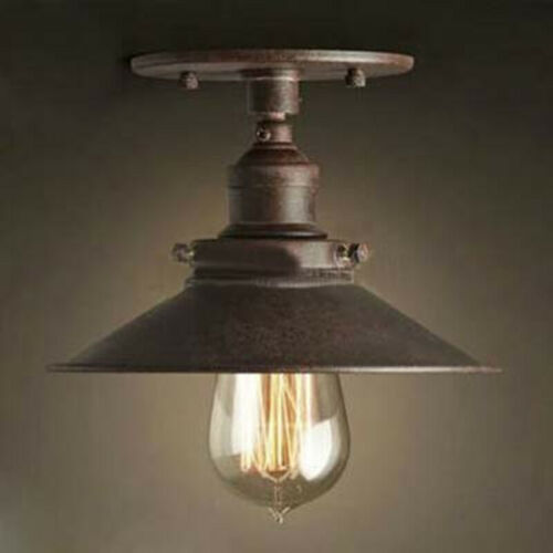 Rustic Industrial Semi Flush Mount Ceiling Light Fixture Hal