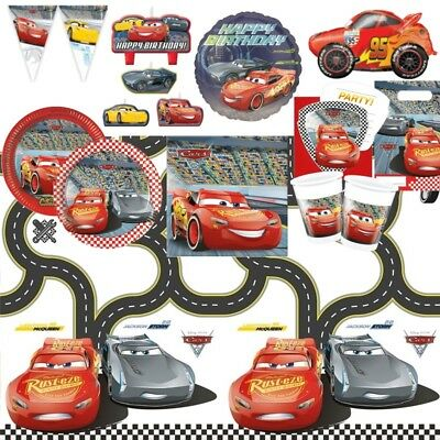 Disney Cars 3 McQueen Party Supplies Tableware, Decorations & Balloons](Disney Cars Decorations)