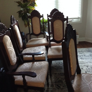 dining table with 6 chairs - $100.00