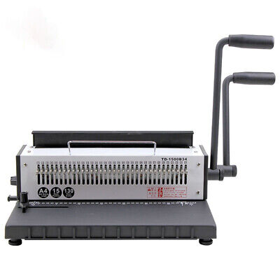 Manual Binding Machine 34-hole Metal Spiral Wire Spool Binding Machine A4 Binder