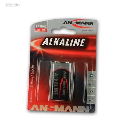9v Alkaline-batterie (9V-Block Ansmann Alkaline Batterie, 6LR61 Blockbatterie, E-Block 9 Volt 9 V)